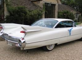 Classic American wedding car for hire in Bath